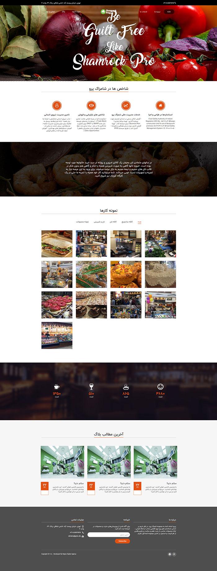 طراحی وب سایت شامراک پرو
